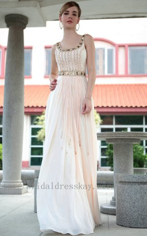 Floor Length Scoop Neck Evening Party Dress Bridesmaid Dress Prom Dress