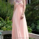 Sweetheart Beaded Floor Length Pink Evening Party Dress Bridesmaid Dress Prom Dress