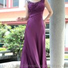 Floor Length Purple Ball Dress Evening Party Dress Bridesmaid Dress Prom Dress