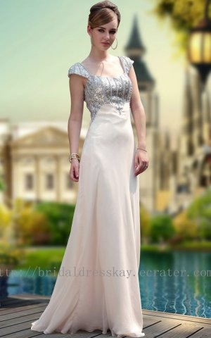 Cap Sleeve Floor Length Evening Dress Prom Ball Party prom Gown