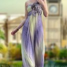 Korea One Shoulder Empire Pregnant Evening Dress Party Gown