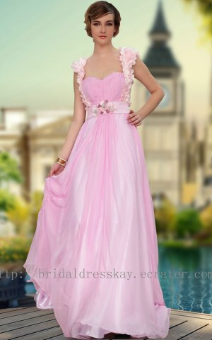 Keyhole Pink Evening Prom Dress Party Gown