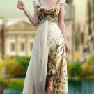 Sweetheart Floor Length Print Evening Prom Dress Party Gown