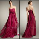 Empire Full length Bridesmaid Dress Prom Dress Evening Party Dress