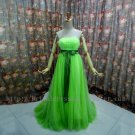 Shinning Green Empire Floor Length Party Dress