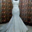 Mermaid Straps Lace Applique Bridal Wedding Dress Gown