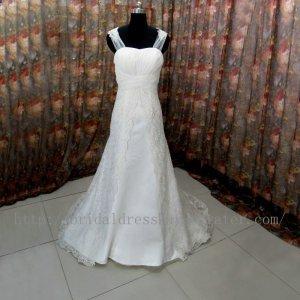 Straps Twist Lace Bridal Wedding Dress Gown