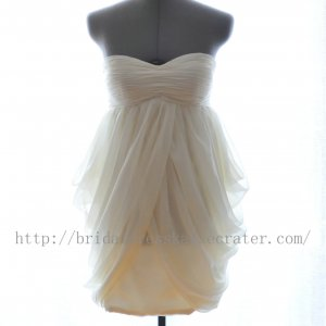 Custom Plus Size Sweetheart Knee Length Short Bridesmaid Dress Party Dress