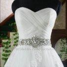 Custom A line Full Length Sweetheart Lace Bridal Wedding Dress