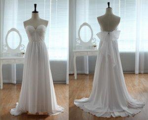 Custom Made Lace Strapless Sweetheart Bridal Wedding Dress