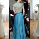 Custom Lace and Chiffon Vintage Celebrity Evening Party Dress