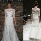 Modest Half Sleeve Lace Bridal Wedding Dress