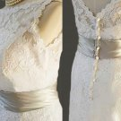 Custom make Vintage A LINE Lace Wedding Dress Bridal Gown