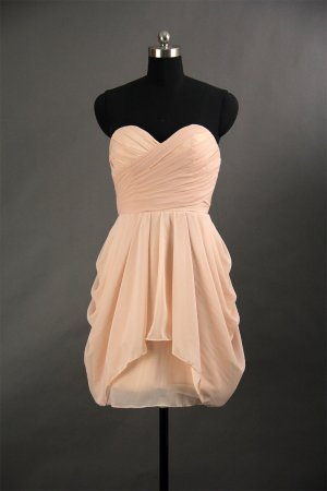 Sweetehart Short Bridesmaid Dress Prom Wedding Party Dress Gown