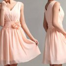 Custom v-neckline Knee Length Short Wedding Bridesmaids Dress Prom Party Dress Gown