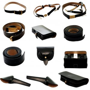 U.S.CIVIL WAR LEATHER CAVALRY PRODUCT 12 ITEMS A BIG AND GOOD DEAL
