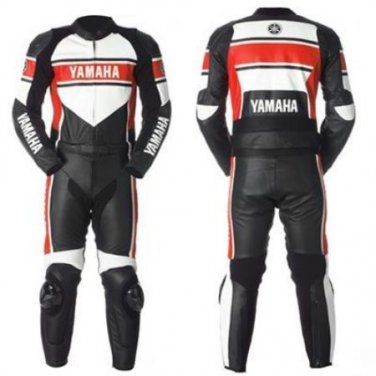 YAMAHA MOTORBIKE LEATHER SUIT ORIGNAL COWHIDE REAL LEATHER WITH FULL PROTECTION FOR BEST RIDE