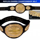 MMA BAMMA CHAMPIONSHIP BELT HAND MADE REPLICA BELT LEATHER STRAP ADULT SIZE NEW
