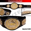 "UFC WEC Championship Extreme Cage Fight Replica Belt Real Leather Adult 50"" New"