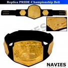 Pride Grand Prix Championship Replica Belt Adult Size & Hand Made Metal Plates
