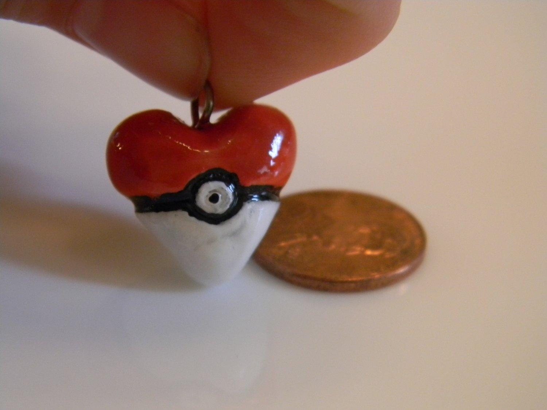 Pokeball Heart Charm