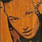 Girl on wood