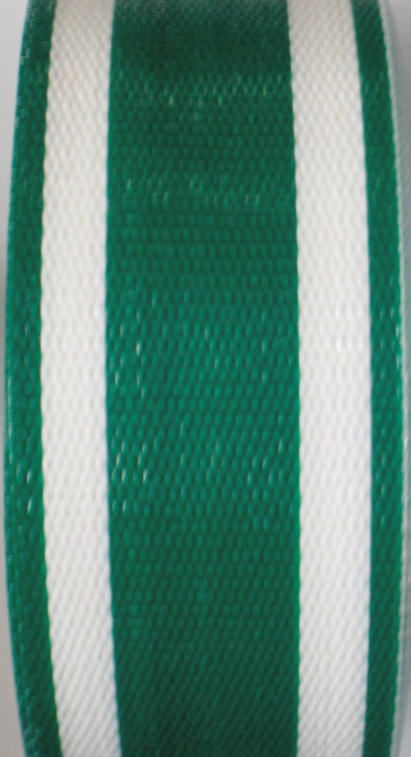Lawn Chair Webbing 100 ft roll - Green Stripe - by WebbingProTM
