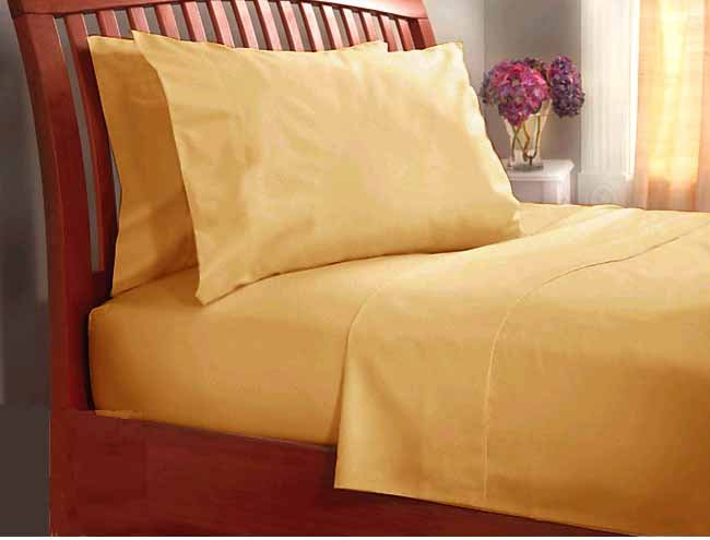 300 TC Sheet set 100% pure Cotton Solid Full Gold