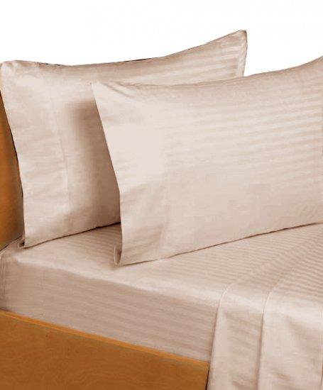 600 TC Sheet set 100% Egyptian Cotton Stripe King Linen