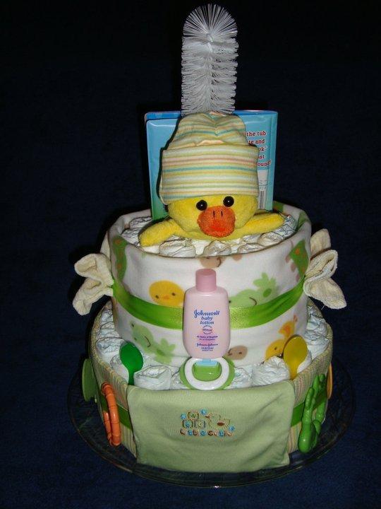 SOLD - Dee Duck Diaper Cake