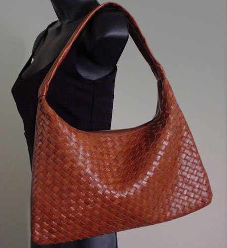 Woven Leather Hobo Bag by Koi Bags  FREE Shipping