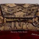 Lizard Print Clutch Purse