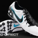 Nike - Mens Total 90 Shoot III AG Boots - Wht/Blk/Blue
