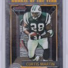 CURTIS MARTIN 2000 BOWMAN CHROMME ROOKIE OF THE YEAR