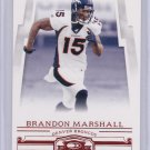 BRANDON MARSHALL 2007 DONRUSS THREADS RETAIL RED
