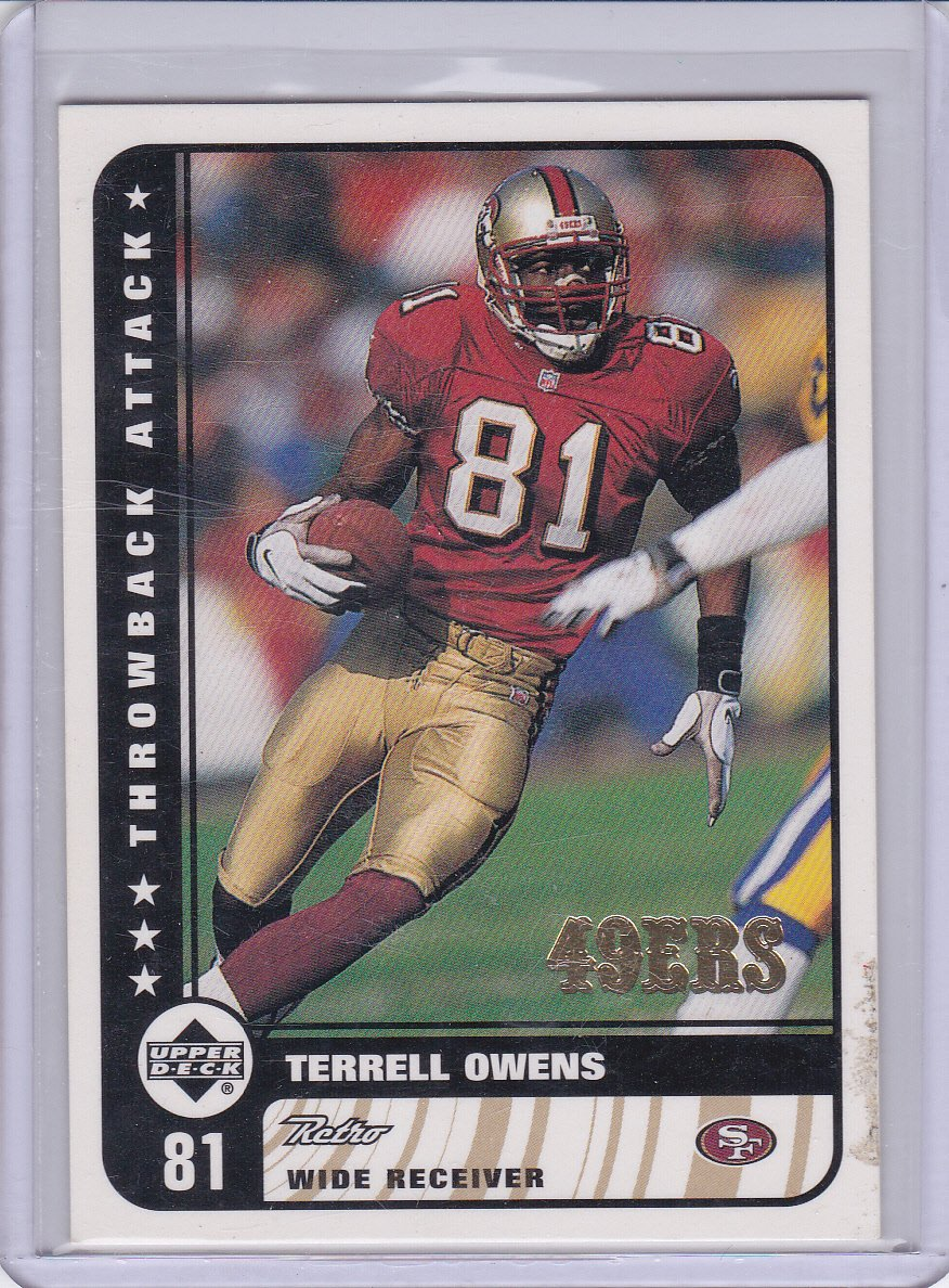 TERRELL OWENS 1999 UPPER DECK RETRO THROWBACK ATTACK