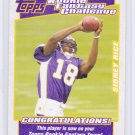 SIDNEY RICE 2007 TOPPS ROOKIE FANTASY CHALLENGE