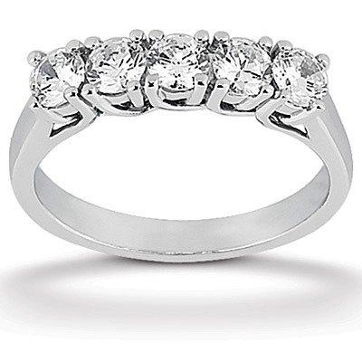 Designer inspired 5 Stone Lucida Set Diamond Wedding Band (0.50 ct. tw.)