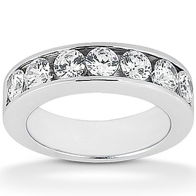 7 Round Stone Classic Channel set Diamond band (0.21 ct tw.)