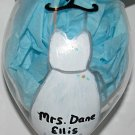 Hand Painted Brides Wine Glass