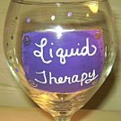 Liquid Therapy Hand Painted Wine Glass