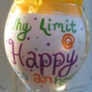 Why Limit Happy to an hour? Hand painted wine glass