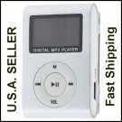 New Silver Mini MP3 Player W/ LCD Screen Clip Micro SD TF Slot