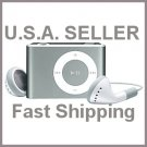 Silver Mini Clip Mp3 Player Support 8 GB Micro SD Card
