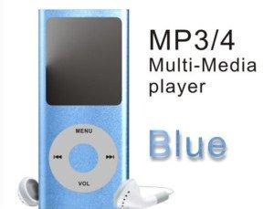 Blue 4GB 1.8 inch TFT Screen MP3 MP4 Media Player