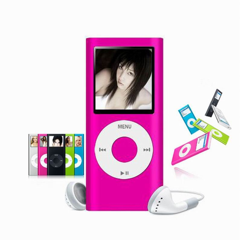 Pink 4GB 1.8 inch TFT Screen MP3 MP4 Media Player