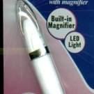 Light-Up Tweezers With Led Light & Built-In Magnifier