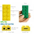 LEGO Block Mp3 Player Support Up To 8 GB Micro SD Card+ Earphones + USB Cables YELLOW