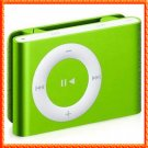 1GB Mini Metal Clip Mp3 Player Support TF/ Micro SD Card  GREEN