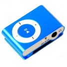 2GB Mini Metal Clip Mp3 Player Support TF/ Micro SD Card  BLUE